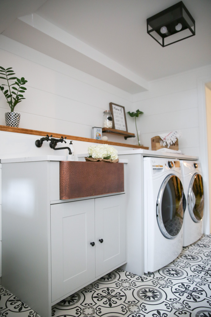 Our Laundry Room With Home Depot