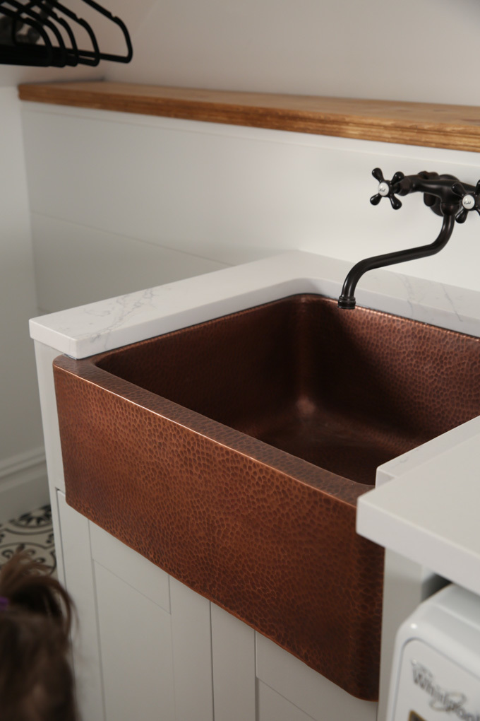 Creative Laundry Space with Home Depot DIY Living