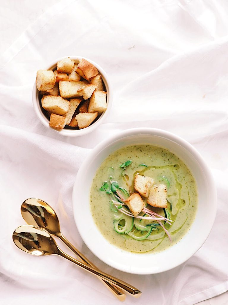 Zucchini, Leek and Basil Soup Food Recipes
